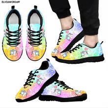 Elviswords Радуга дантист модный дизайн женские кроссовки Милая