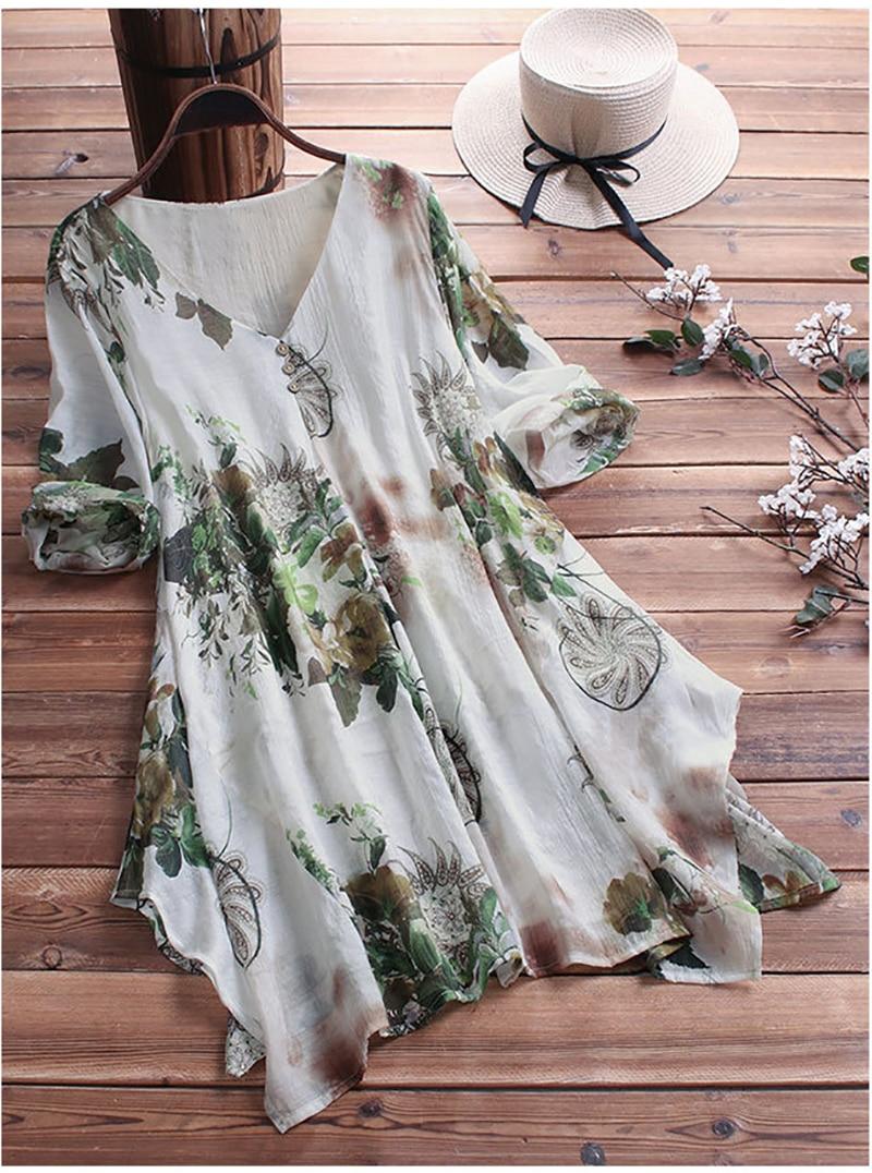 chemise blouse fleurie grande taille jusqu'au 9 XL 2