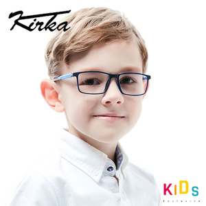 Image 2 - Kirka Kinder Brillen TR 90 Kinder Optische Gläser Rahmen Flexible Brille Rahmen für Kinder Spektakel Rahmen TR90 Unisex Solide