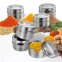Magnetic Dustproof Visible Salt Pepper Shakers Container Set Seasoning Jar Spice Bottle BBQ Kitchen Spice Container недорого