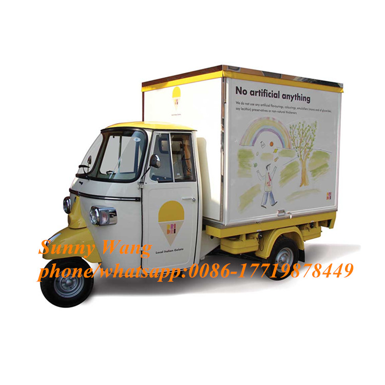 2019 New Arrival Tricycle Food Cart Motorcycle Food Truck Mobile Food Trailer For Sale