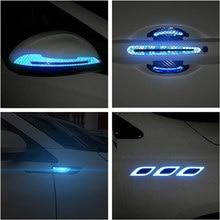 2PCS Auto reflektierende aufkleber türgriff tür schüssel Schutz für Ferrari BMW Audi Toyota Honda Mazda Hyundai Mercedes Benz ford