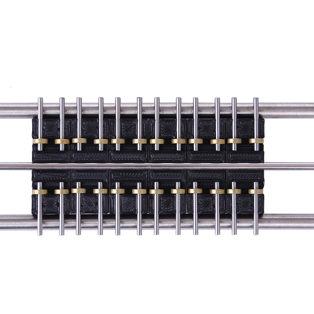 6Pcs 50cm 1:87 Model Train HO Scale DIY Treadmill Track With Connecting Line For HO Scale Model Of Most Brands In The Market