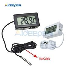 Встроенный цифровой lcd датчик для холодильника, морозильник, термометр, датчик, термометр, термограф для аквариума, холодильник, 1 м-50~ 110