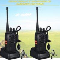 bf 888s 2 PCS Baofeng BF-888S מכשיר הקשר 5W דו כיוונית רדיו נייד CB רדיו UHF 400-520MHz Comunicador משדר משדר (5)