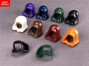 Image 1 - 10 ピース/ロットmocレンガヘッドギアフードヘルメット折り畳む図アクセサリーフィットと 30381 & 15428 ビルディングブロックのおもちゃ子供ギフト