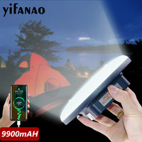 9900mAh Leistungsstarke LED Camping Licht USB Aufladbare Lampe Zelt Lampe Tragbare Laternen Notfall Licht Für Wandern als power Bank
