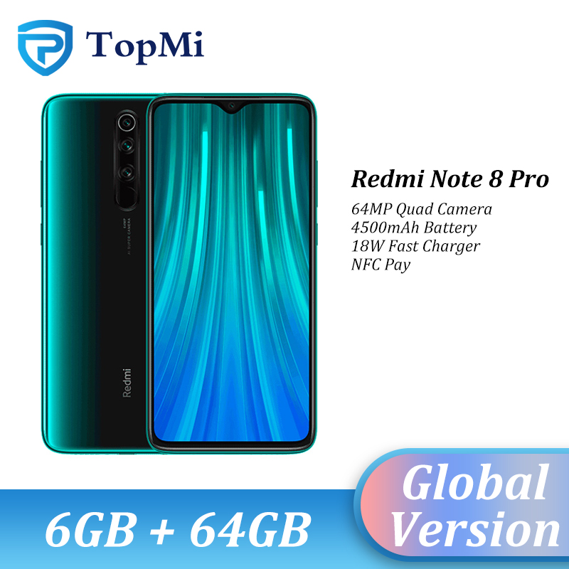 Original Global Version Xiaomi Redmi Note 8 Pro 6GB 64GB Smartphone 64MP Quad Camera 6.53