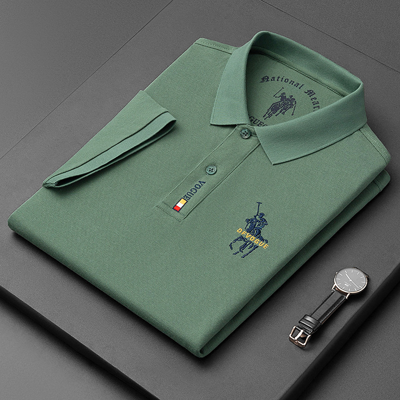 Top Grade 100% Cotton Polo Shirts For Men 2021 Summer New Arrival Business Casual Embroidered Logo Tops Homme Designer Clothes 1