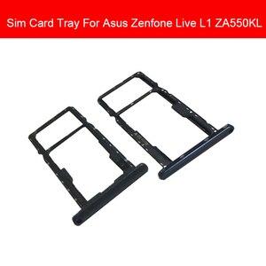 Держатель для карт Micro Sim для Asus Zenfone Live L1 ZA550KL Micro SD, слот для sim-карт, запасные части для ремонта телефона