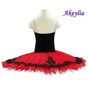 Image 3 - Rojo Negro profesional ballet tutu niñas clásico ballet tutu adultos disfraces de ballet tutu rendimiento mujeres