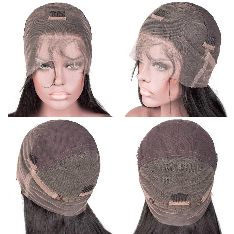 Perucas completas do cabelo humano do laço ftontal para as mulheres negras em linha reta remy curto peruca longa pré arrancado com o cabelo do bebê glueless 30 polegada