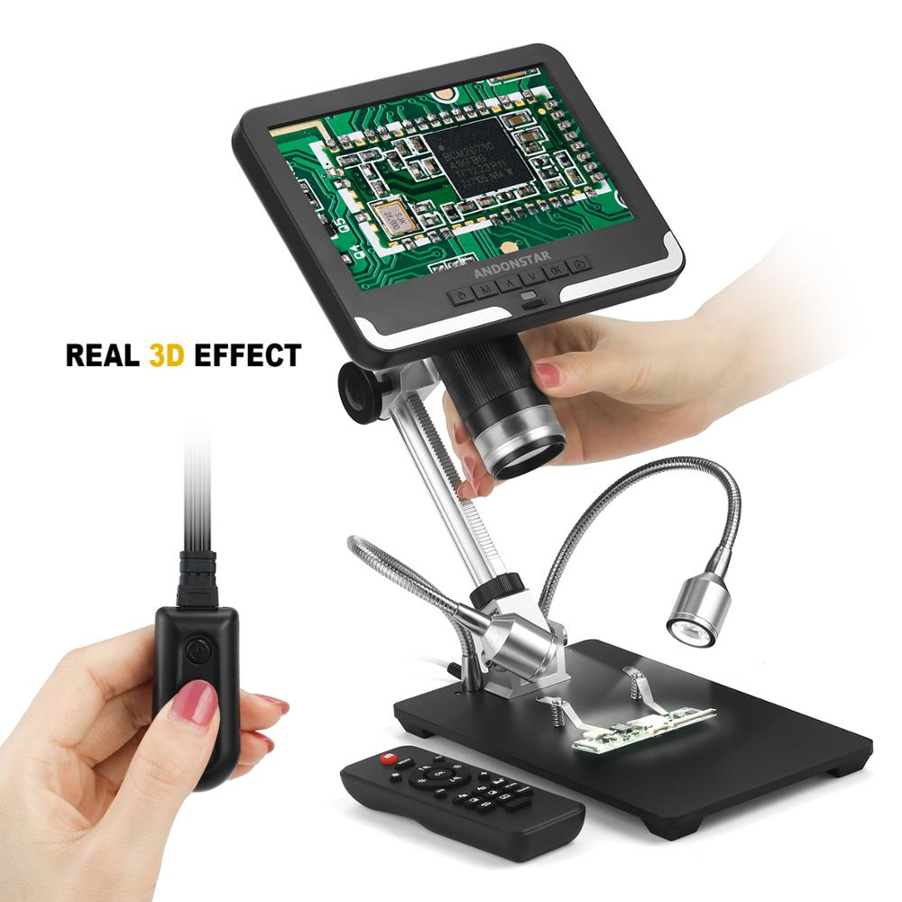 Clearance SaleAndonstar Digital Microscope Repairing AD206 for 1080P Phone-Watch White Black SMD/SMT