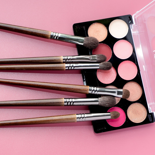 OVW Cosmetic 6 pcs Ultra Soft Goat Hair Makeup Eye Shadow Brush Set Tool trucchi pennelli Tapered Blender Diffuse Kit Cut Crease 5