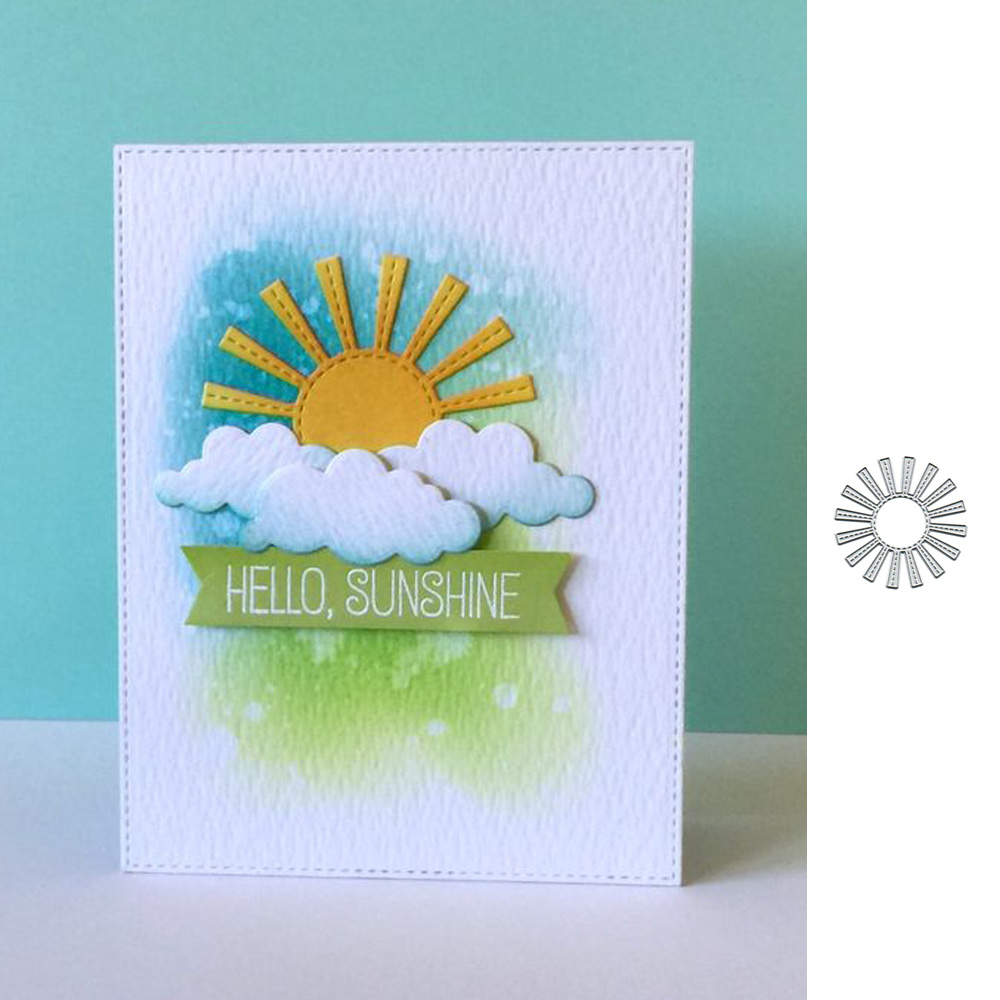 Sun Shine Metal Cutting Dies  Stencil For DIY Scrapbooking Paper Card Decorative Craft Embossing Die Cuts New 2019
