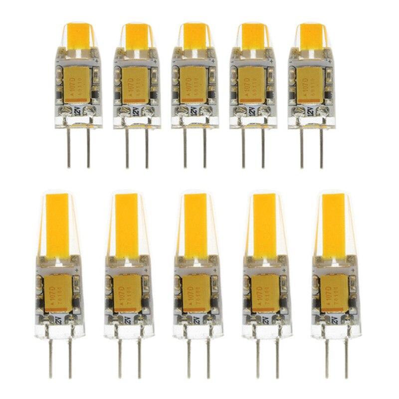 10x мини G4 светодиодный COB лампа DC 12 В свеча силиконовые огни заменить 20 Вт 40 Вт галогенная люстра-прожектор