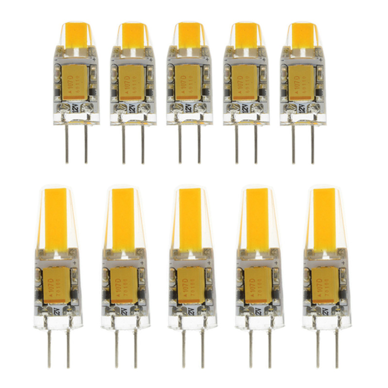 10x Mini <font><b>G4</b></font> <font><b>LED</b></font> COB Lamp <font><b>Bulb</b></font> DC 12V Candle Silicone Lights <font><b>Replace</b></font> 20W 40W <font><b>Halogen</b></font> for Chandelier Spotlight image