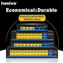 4 8 16 24 порта POE коммутатор Ethernet со стандартизированным портом IEEE 802,3 af/at 2 Gigabit uplink+ 1 SFP 250m