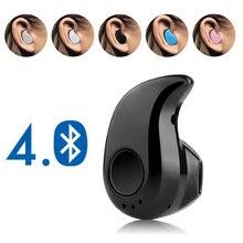 Mini kablosuz Bluetooth kulaklık spor Mic ile Handsfree kulaklık kulaklık tüm telefon için Samsung Huawei Xiaomi Android