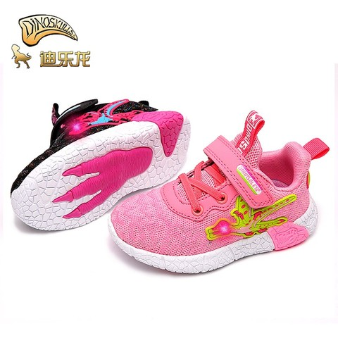 dinoscranios crianca tenis do bebe meninas brilhantes tenis dinossauro criancas led luz esportes sapatos de
