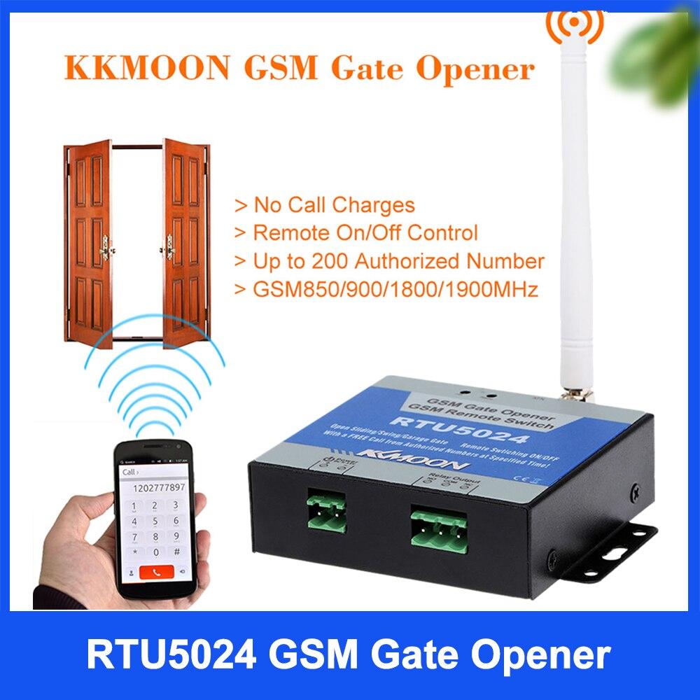 RTU5024 GSM Portão Opener Abridor Da Porta Da Porta de Acesso Controle Remoto Sem Fio Interruptor do Relé Por Chamada Gratuita 850/900/1800/1900MHz