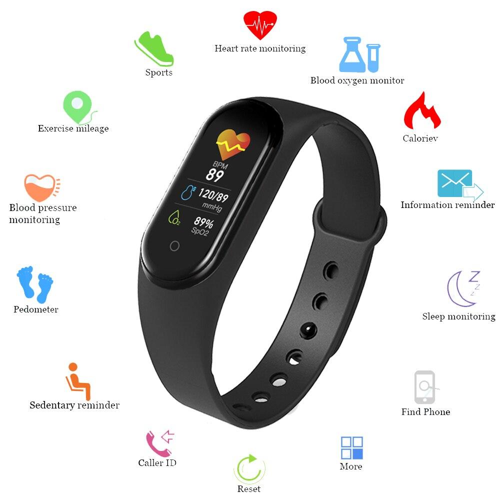 M5 Smart Band Women Bluetooth Call/Music Smartband Sport Fitness Tracker Smart Watch Men Health Wristband Smart Bracelet