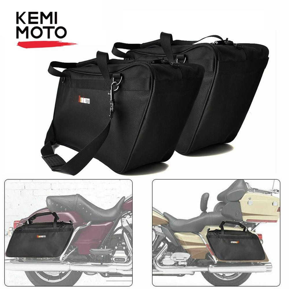 KEMiMOTO Motorcycle Saddlebag Luggage Liner For Touring Road King Electra Street Glide Standard Ultra 93-18 Saddle Bag