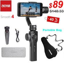 Zhiyun estabilizador de cardán de mano Smooth 4, 3 ejes, para iPhone 12, 11 Pro, XS, Xr, X, SE, 8, Samsung S20, S10, funda portátil