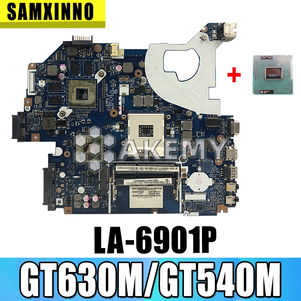 Free CPU Laptop motherboard For Acer Aspire 5750 5750G 5755 5755G PC P5WE0 LA-6901PMainboard GT630M/GT540M image