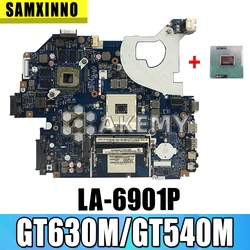 Grátis CPU Laptop motherboard para For Acer Aspire 5750 5750G 5755 5755G PC P5WE0 LA-6901PMainboard GT630M/GT540M