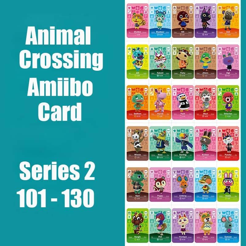 Series 2 (101 To 130) Animal Crossing Card Amiibo Card Work For NS 3DS Switch Game Animal Crossing Amiibo Card Original Function