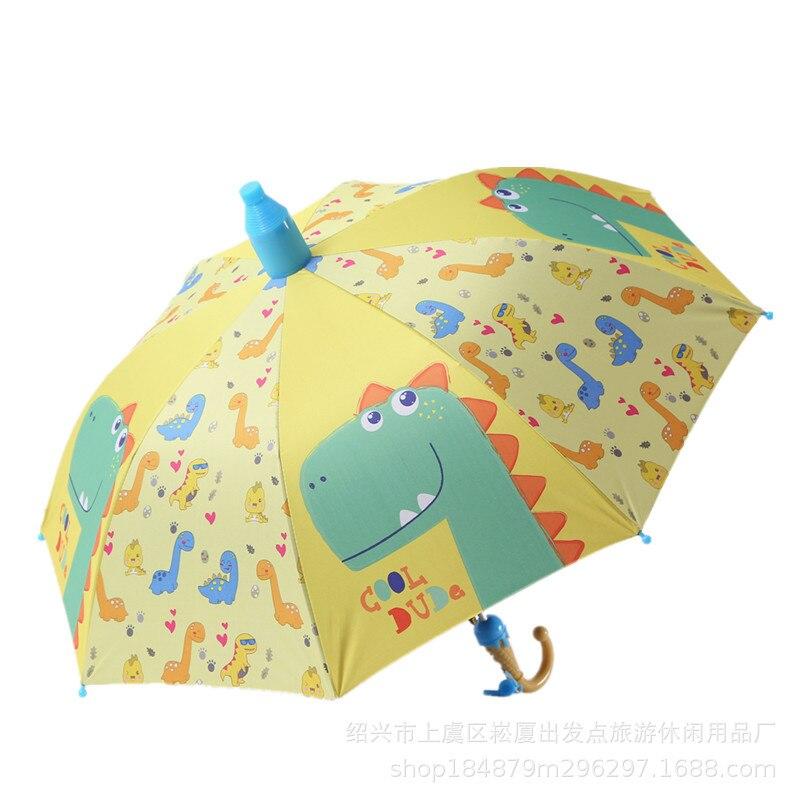 Umbrella Kids Lovely Children Rainbow Umbrellas Semi Automatic  Rain Sun Umbrellas Cartoon Unicorn Umbrella