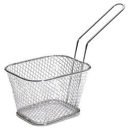 10Pcs Portable Stainless Steel Chip Mini Fry Basket Filter Fryer Kitchen Cooking Cook Basket Colander French Fries Basket
