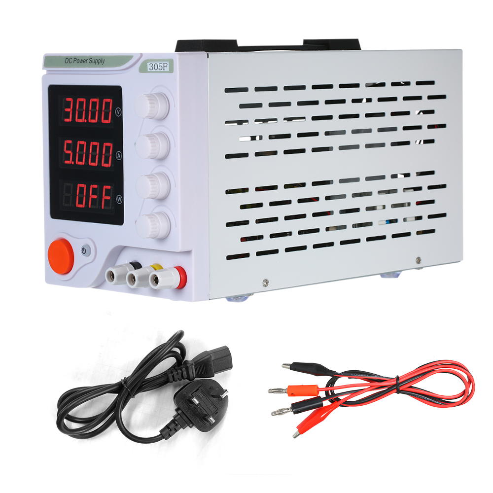 305F Regulated DC Power Supply Adjustable Switching 4 Digits LED Display 0-30V 0-5A High Precision Mini