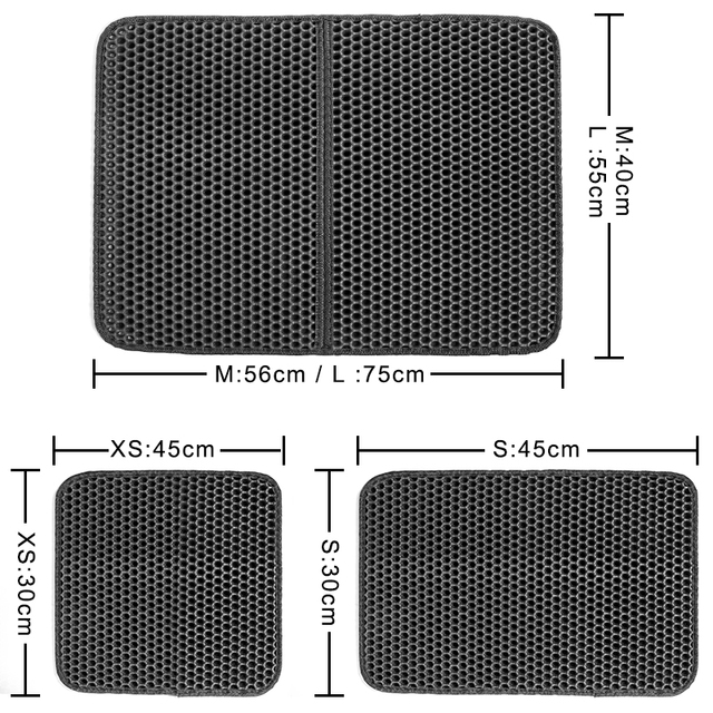 Pet Cat Litter Mat Waterproof EVA Double Layer Cat Litter Trapping Pet Litter Box Mat Clean Pad Products For Cats Accessories- 4