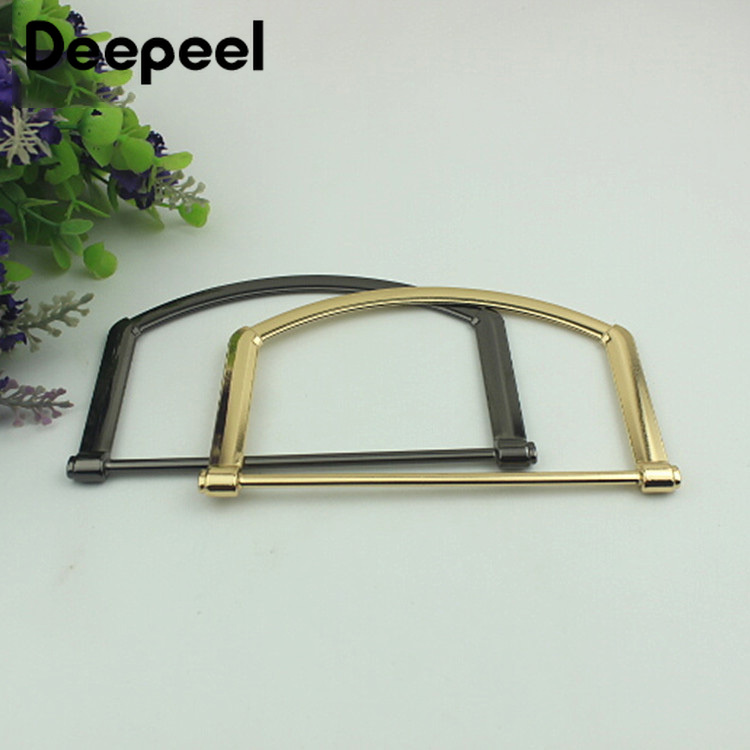 Deepeel 2/4pcs 106x76mm Metal Bag Handles For Women Fashion Bag Decorative Buckle Purse Replacement Handbag Hardware Accessories