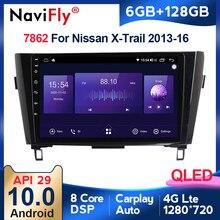 6G + 128G QLED 4G Android 10 Für Nissan X-Trail XTrail T32 Qashqai J11 T31 j10 2013-2016 Auto DVD Player Navigation GPS Radio Audio