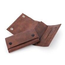 Модная сумка из синтетической кожи для табака коричневый цвет портативный чехол для хранения для курения скатывающаяся трубка держатель д...