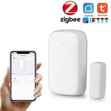 2020 New ZigBee Wireless Door Window Sensor Smart Door Sensor Intelligent Linkage Door Sensor DIY Smart Home Life Control System tanie tanio Smart wireless door window sensor