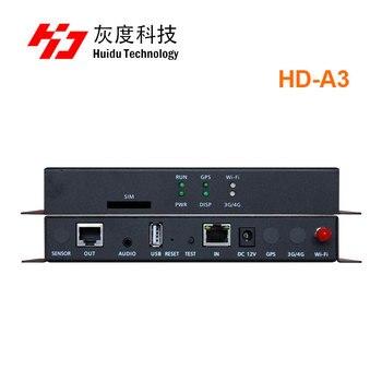 Huidu HD-A3 HD Async lecteur boîte huidu polychrome USB LED de contrôle Huidu A3 support fil app opération extérieure SMD écran LED