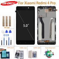 Pantalla LCD original de 5,0 pulgadas para XIAOMI Redmi 4 Pro, Digitalizador de pantalla táctil con Marco, módulo de pantalla LCD
