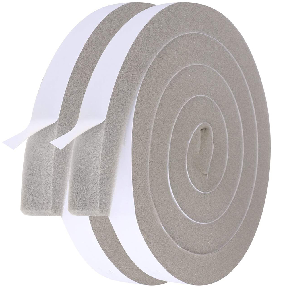 4M PU Sponge Soundproof Foam Seal Tape Adhesive Anti Collision Weather Stripping for Doors and Windows Furniture Protection