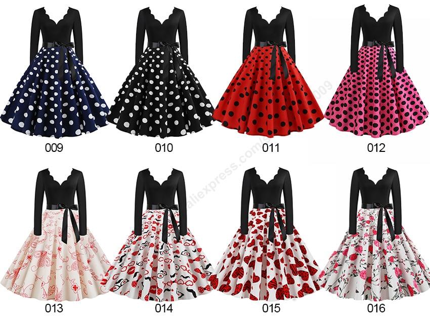 Women Long Sleeve Winter Vintage Dresses Sexy Black Music Note Print V-neck Rockabilly Pin up Party Dress Vestidos Plus size 506