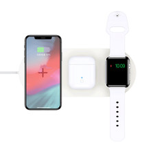 3 in 1 Fast Charging Pad Dock Portable Free Shipping QI Wireless Phone Charger For iPhone 8 11 XS XR Airpods Apple Watch 5 4 3 2(China)