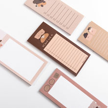 50 Sheets Cute Memo Pad Cartoon Bear Message Notes Decorative Notepad To Do list For Student Stationery Memo Sheet Office Supply