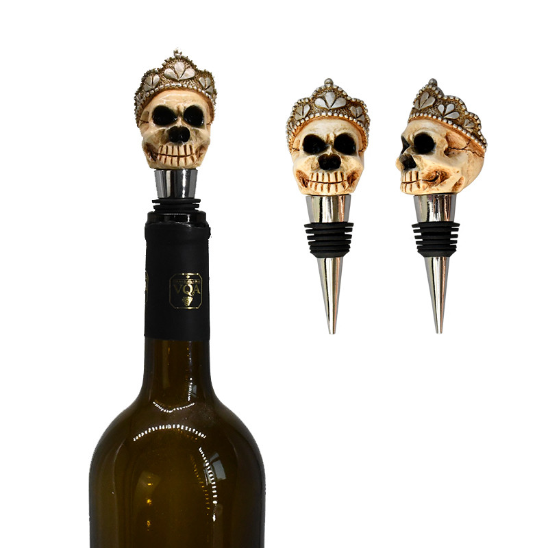1Pc Resin Wine Stopper Skull Witch Hats Red Wine Bottle Cap Stopper Fresh Wine Keeper Champagne Cork Stopper Kitchen Bar Tools
