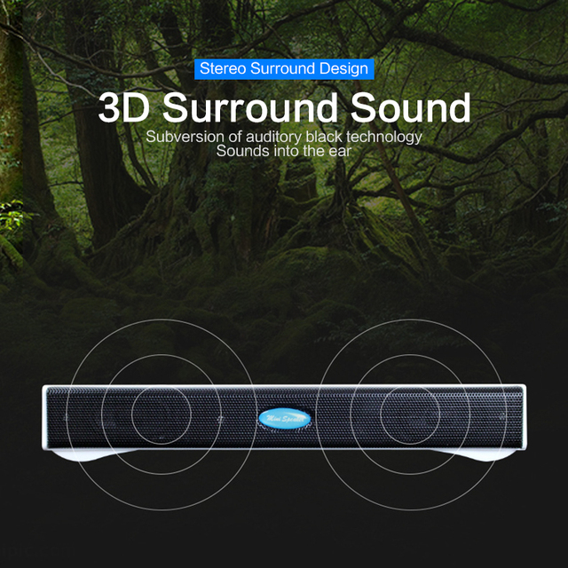 HOT SALES Portable Laptop/Computer/PC Wireless bluetooth Speaker USB Sound Bar Stick Music Player Speakers For Tablet