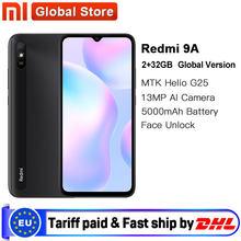 Versión Global Xiaomi Redmi 9A teléfono móvil 2GB RAM 32GB ROM MTK Helio G25 Octa Core 6,53