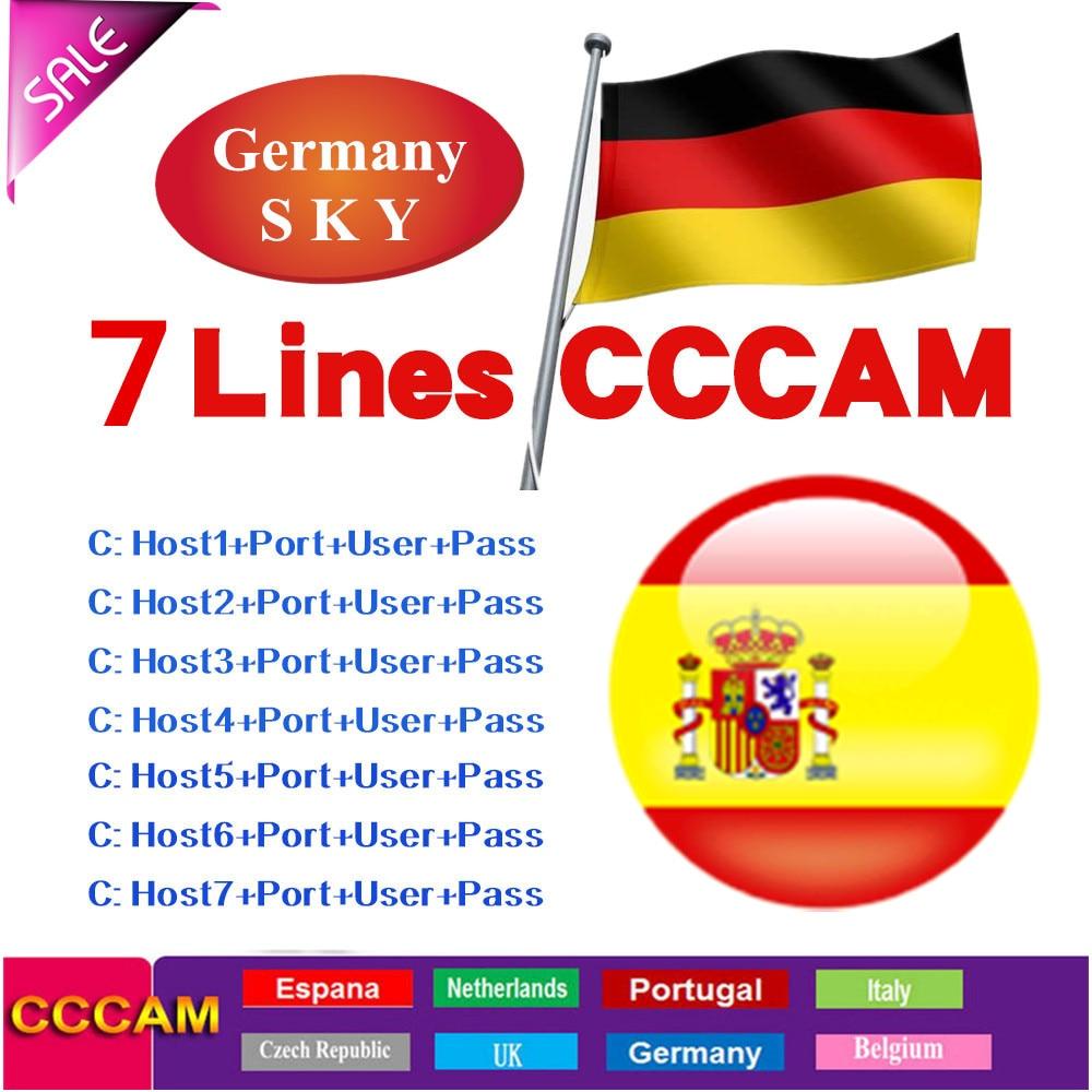 2020 NEW 1.5 Year Cccams For Satellite Tv Receiver Lines WIFI FULL HD DVB-S2 Support Via USB Wifi Support V7s V8 Nova V9 Super