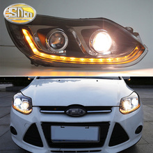 цена на SNCN Car Styling LED Headlight For Ford Focus 3 MK3 2012 2013 2014 LED DRL Dynamic Turn Signal Head Lamp Assembly Moving Start